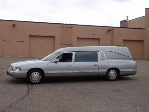 Blue 1998 Cadillac Deville Superior Statesman Hearse / Funeral Coach for sale